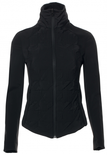 Cavalleria Toscana Houndstooth puffa jacket for ladies in black